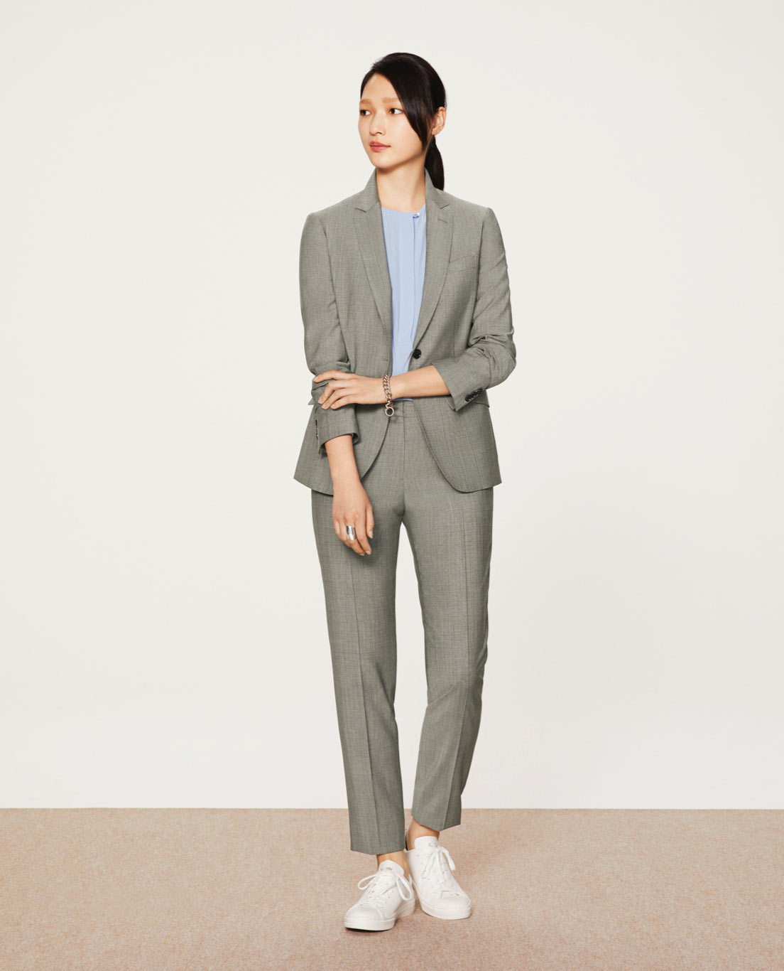 COMFORT TAILORED JACKET・TAPERED PANTS: 5501 / Light Grey Tropical S&S