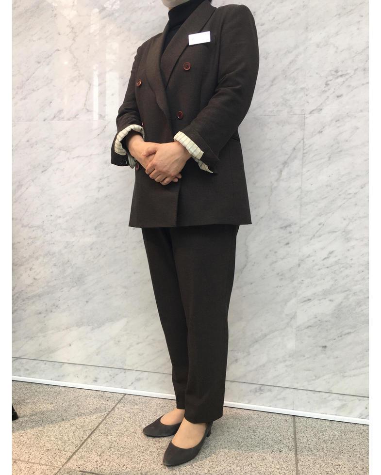 ダブル ブラウンスーツ