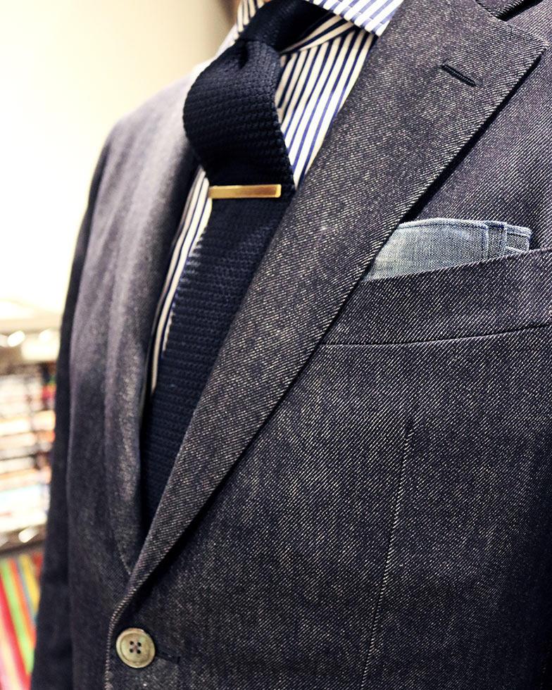 デニム素材のオーダースーツ
